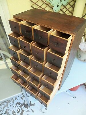 Vintage collectors cabinet, tool box, apothecary, industrial chest of drawers