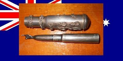 Australia Military Yad Silver Trench Art Shell Unique