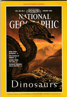 NATIONAL GEOGRAPHIC Magazine January 1993 - Dinosaurs (With Free Poster)
