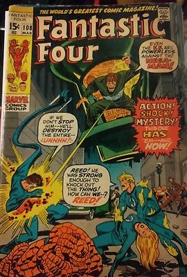 Fantastic Four #108 (last work of kirbys) *signed by Jack Kirby and Stan Lee