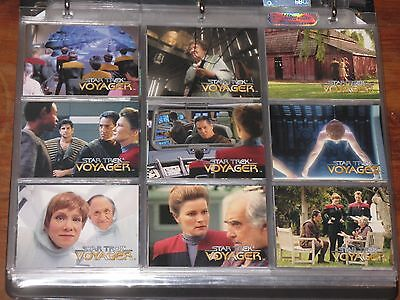 ~Star Trek VOYAGER Series ONE & TWO Collector Trading Cards & Binder SkyBox~
