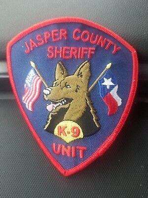 Jasper TX Sheriff K9 Unit Patch