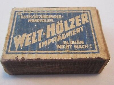 Wwii Era German Matchbox, Wolrd-Holzer Impregnated, Estate Find, Known Eto Gi