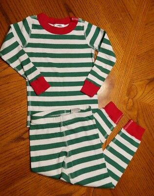 Hanna andersson 90 Pajama Set Red And Green