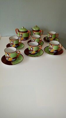 Japanese coffee set, Hand panted, No teapot