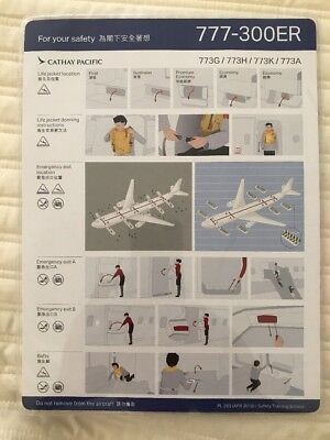 Airline Safety Card Cathay Pacific 777ER