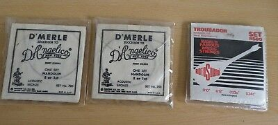 Two Identical Sets Of D'merle Mandolin Strings And One Set Of A Bit Of A Mixture