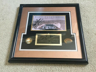 Apollo 13 Captain James Lovell Autographed Mars Pathfinder Stamp Framed 1 - 5000