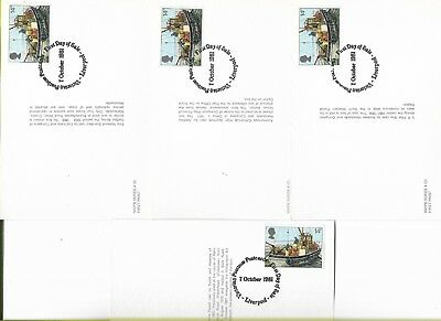Pillar Box Postcards - Issued By The Po 7.10.81 & 18.11.81 Fd Card Issue Cancels