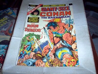 Giant-Size Conan The Barbarian # 1 Gil Kane Art Hour Of The Dragon Look Vf-