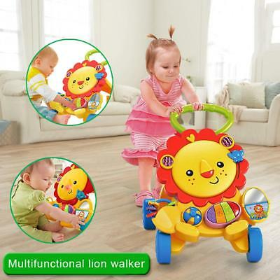 NEW! Baby Walker Adjustable Height Push Walker First Steps Activity with Music
