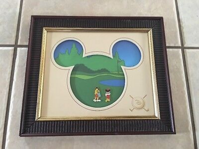 Disney Golf Pins - Framed Limited Edition Of 250 - Walt Disney World Collectible