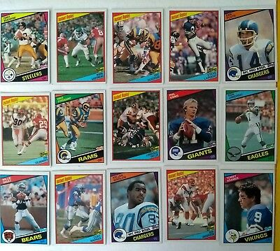 15 x Topps 1984 NFL football cards w/stars, Dickerson RC
