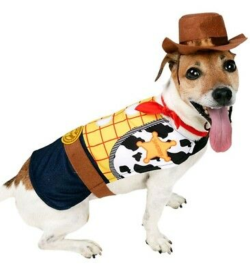 RUBIE'S official WOODY dog costume X-SMALL cowboy TOY STORY DISNEY chihuahua
