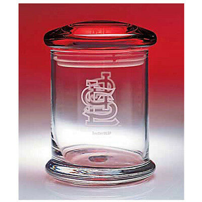 """St. Louis Cardinals MLB Glass Snack & Candy Jar - Holds 12 oz. 3-3/4"""" dia x 5""""H"""