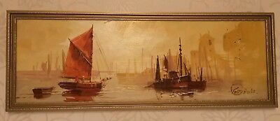 Original Oil On Board Painting By Brixham Artist Terry Burke