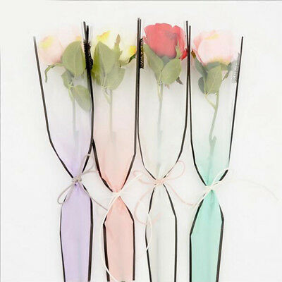 50 Plastic Flower Wrapping Paper Single Bouquet Decoration Packaging Bags