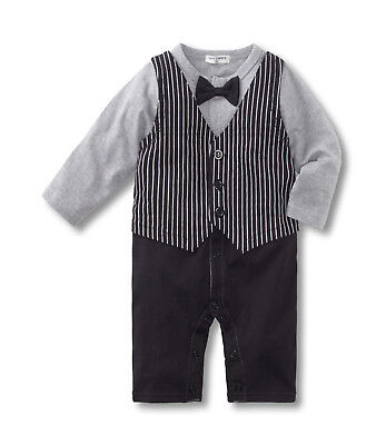 Baby Boy Formal*Party*Wedding*Tuxedo Waistcoat 1pc Suit with Bow tie Free P+P