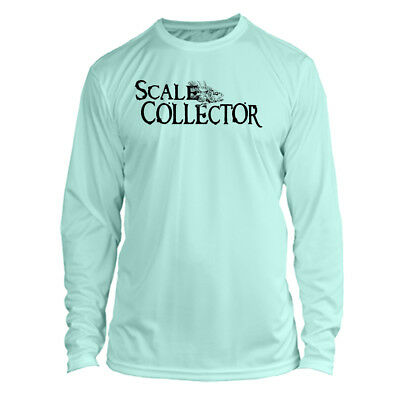 1c5a67f0 Long Sleeve Microfiber UPF Scale Collector Fishing Shirt - Seafoam Green