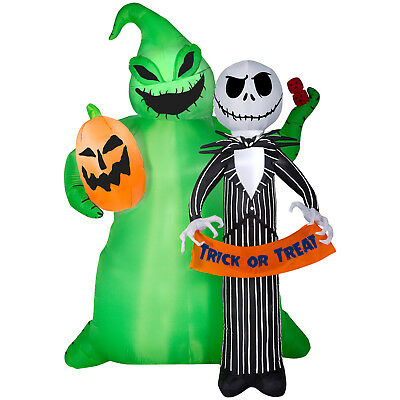 Nightmare Before Christmas Jack And Oogie Boogie Halloween Airblown Inflatable