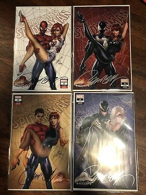 Amazing Spider-Man #2 LGY #803 J Scott Campbell exclusive 4 Pack A B C D Variant