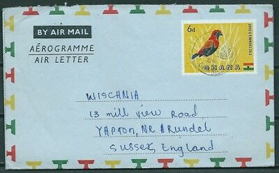 Ghana 1964 Entire Aerogramme, Accra To Sussex U.k. -Cag 220218