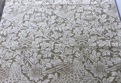 Vintage Sanderson Fabric Sample Bird And Anemone Made In UK 100% Cotton