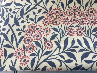Vintage Sanderson Fabric Sample Michaelmas Daisy Made In UK 100% Cotton