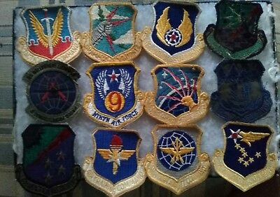 12 Original Army Air Force Patches In Great Condition