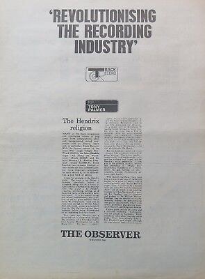 "Jimi Hendrix ""Revolutionizing the record industry"" full-page UK ad 1968 + Bonus"