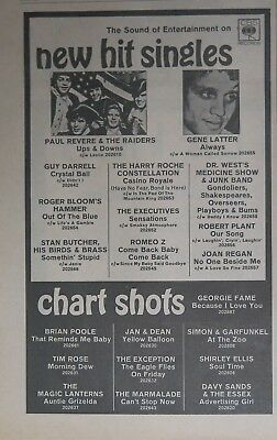 """Robert Plant """"Our Song"""" 1967 UK ad Led Zeppelin"""