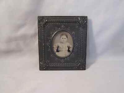 1/16 Plate Ruby Ambrotype Photo Young Girl in 1/2 of a Peek-A-Boo Union Case