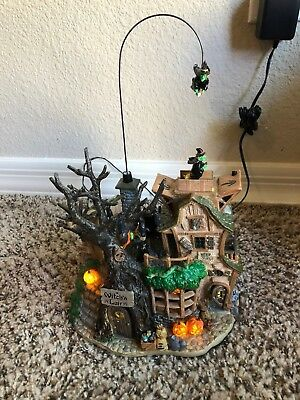 Lemax Spooky Town Halloween The Witches Lair Animated Musical Lighted