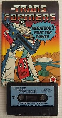 Vintage Ladybird Book Megatron's Fight For Power With Cassette Tape