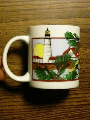 Maine Souvenir Coffee Mug Maine Attractions Landmarks Scenery Animals Art Mug