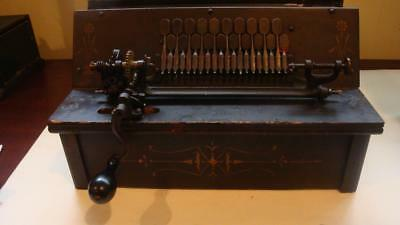 Antique The Gem  Roller Organ Pat.may 31St 1887 +2 Cobs New Bellows & 1 Pad