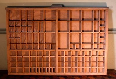 Vintage Art Deco Radiguer French Wooden Printers Tray Letterpress Type Display B