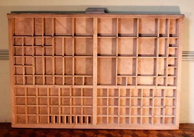 Vintage Art Deco Radiguer French Wooden Printers Tray Letterpress Type Display F