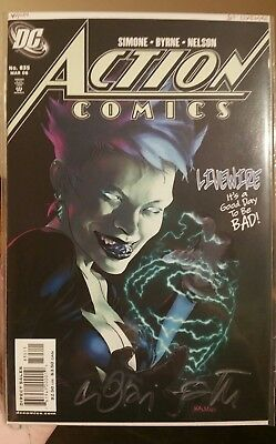 Action Comics #835 1st Livewire mainstream app VF/NM signed by Lori Petty..