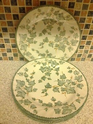 Bhs British Home Stores Country Vine Design 6 X Dinner Plates