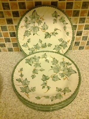 Bhs British Home Stores Country Vine Design 6 X Side/cake Plates