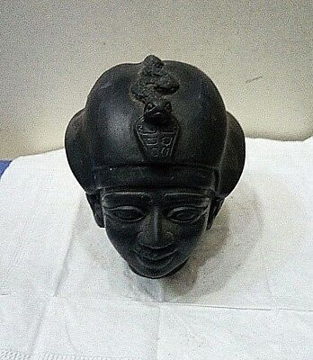 RARE ANCIENT EGYPTIAN ANTIQUE Osiris Head of Osiris Stone Antique 1900-1720 BC