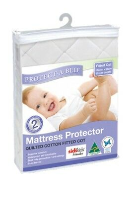 BN Protect A Bed Protectabed Fitted Cot Quilted Cotton Mattress Protector Sheet