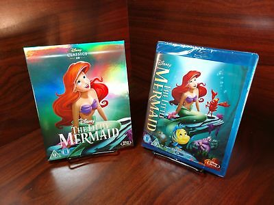 The Little Mermaid(1989)(Blu-ray,REGION FREE)Collector Edition Slipcover-NEW