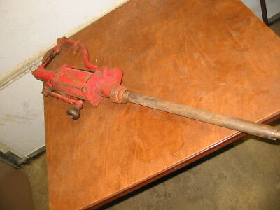 Vintage Bennett Gas Motor Oil Petroleum Barrel Hand Pump sign garage shop Mobile