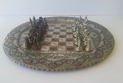 RARE PERSIAN Chess Board and Chess Pieces COMPLETE SET