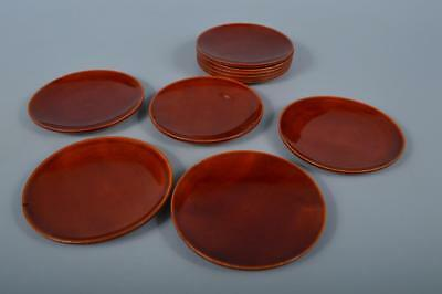K9409: Japanese Wooden Hida Shunkei lacquer ware SERVING PLATE/dish 10pcs