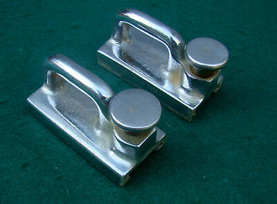 PAIR HD GENOA TRACK SLIDES-Super HD Chr Bronze-9 Photos-SCRS SIZE-TRADITIONAL !!