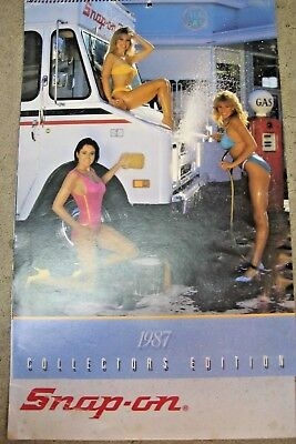 1987 Snap On Tools Pin up Girl Calendar Good Condition