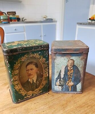 LORD HUNTINGFIELD..wife Mary..Gov of Vict 1934 ..2 x vintage  tins